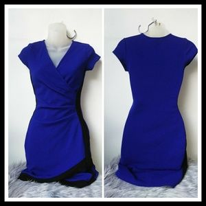 Pretty royal blue and black dress